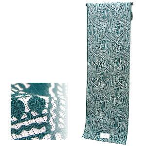 綿絽 浴衣反物「深緑色 リボン