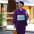 洗える 色無地単品「深紫色」M、Lサイズ 単衣 仕立て上がり着物 ポリエステル着物 夏着物 色無地着物 (TS-56)<R>【メール便不可】