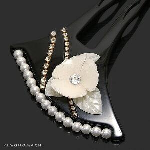 礼装 かんざし「黒色 花モチー