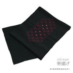 帯揚げ「ブラック 七宝刺繍」R