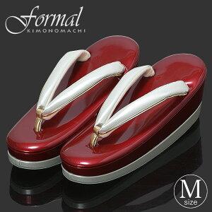 Mサイズ 草履単品「赤色×銀色