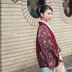 お洒落な大人のお出かけに レース羽織レース 羽織「ワイン」着物カーデ 春コート 洒落小物 日本