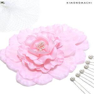 振袖 髪飾りセット「薄ピンク色