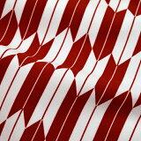 洗える着物二尺袖単品「濃赤色×白色矢羽根」お仕立て上がり二尺袖レトロ卒業式にモダン<H>【メール便不可】
