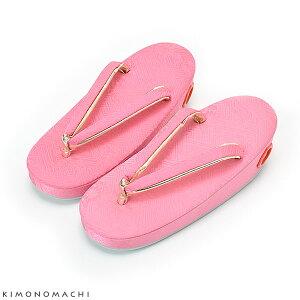 お子様用草履単品「ピンク色 紗綾形」18cm