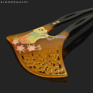 銀杏型 かんざし「桜と源氏車」