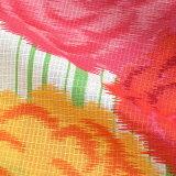 玉城ティナ×キスミス浴衣単品「グリーンストライプに菊花」新作ブランド浴衣夏祭り、花火大会に女性浴衣綿浴衣(6TSY-11)【メール便不可】