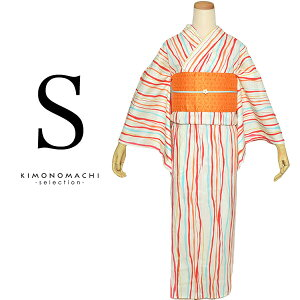 Sサイズ 浴衣単品「赤×オレン