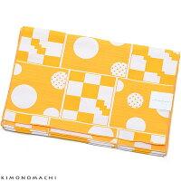 浴衣帯「幾何学 黄色」<16浴