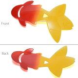 プレート帯飾り「赤×黄色金魚」和装小物帯プレート浴衣小物<H>【メール便不可】