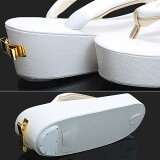 fussa草履単品「白色リボン」型押リボン飾り成人式、結婚式の振袖に振袖草履華やか草履<H>【メール便不可】