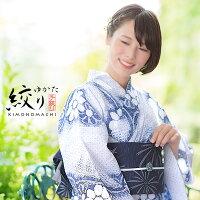女性浴衣「薄花色×花色 からくさに花」
