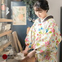 ロング丈 割烹着「フラワー」日本製 オシャレ かわいい 綿割烹着 【メ...