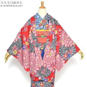 羽織単品「赤色菊と梅」S、F、