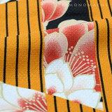 京都きもの町オリジナル羽織単品「金茶色変わり縞」S、F、TL、LL洗える羽織女性羽織レトロポリエステルアンティーク調ブラック縞【メール便不可】