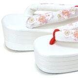 刺繍草履「白色梅のお花刺繍」フリー(Lサイズ)礼装草履振袖草履前撮り、成人式、結婚式の振袖に<H>【メール便不可】