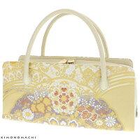 礼装 和装バッグ「ゴールド 吉祥青海波」