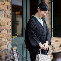 着物衿コート「黒色 源氏香」
