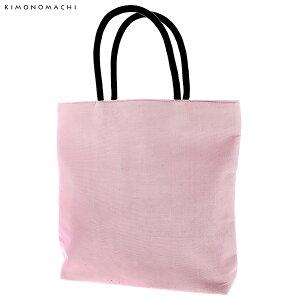 麻 手提げバッグ「ピンクラベンダー」