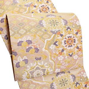 礼装 袋帯「霞に華文」未仕立て 正絹帯