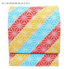 京袋帯「三色 麻の葉」全通柄