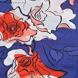 京都きもの町オリジナル浴衣セット「ブルー薔薇」S、フリー、TL、LL浴衣、浴衣帯、下駄女性浴衣3点セット花火大会、夏祭り、夏フェスに【メール便不可】