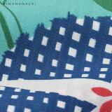 京都きもの町オリジナル浴衣セット「グリーン×ブルー朝顔」S、フリー、TL、LL吸水速乾女性浴衣3点セット花火大会、夏祭り、夏フェスに【メール便不可】