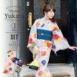 京都きもの町オリジナル 浴衣セット「ピンク カラフル水風船」S、フリー、TL、LL 花火大会、夏祭り、夏フェスに 女性浴衣3点セット お仕立て上がり浴衣 【メール便不可】