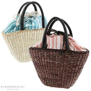 とうもろこし バッグ単品「ピンク×ブラウン、水色×生成り ス