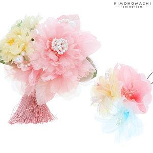 髪飾り2点セット「ピンク色のお