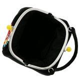 刺繍がま口バッグ単品「黒色毬」振袖バッグちりめん刺繍和装バッグがま口バッグ<H>【メール便不可】