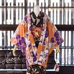 夢館オリジナル 羽織単品「柿色 ホオズキ」フリーサイズ(Lサイズ) 洗える羽織 女性羽織 レトロ 【メール便不可】