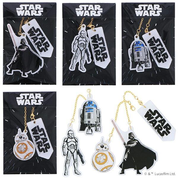スター・ウォーズ 根付け「ダース・ベイダー、ストームトルーパー、R2-D2、BB-8」