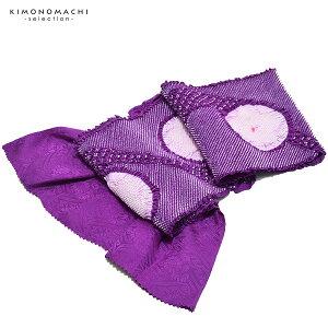 振袖 帯揚げ「紫色×淡藤色」総絞り 正絹帯揚げ