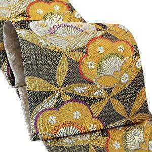 振袖 袋帯「黒色 梅」お仕立て上がり 正絹帯