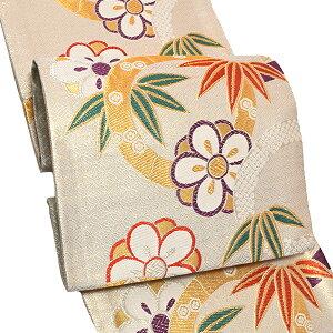 振袖 袋帯「白色 竹と梅」お仕立て上がり