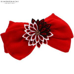 リボン 髪飾り「赤色リボン、つ