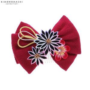 リボン 髪飾り単品「赤紫色のリ