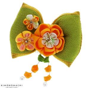 リボン 髪飾り「抹茶×黄緑色リ