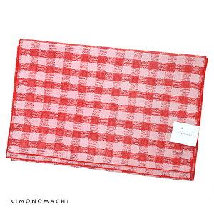 浴衣帯単品「チェック 赤」兵児