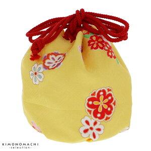 巾着単品「黄色 お花」