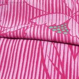 作り帯浴衣セット「赤紫色縞に牡丹」S、F、TL、LLカリキュロポリエステル浴衣女性浴衣【メール便不可】