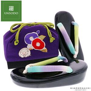 七五三 草履バッグセット「紫色