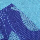 小袋半幅帯「ブルー星とクジラ」みすゞうた小袋帯浴衣帯レディース<H>【メール便不可】