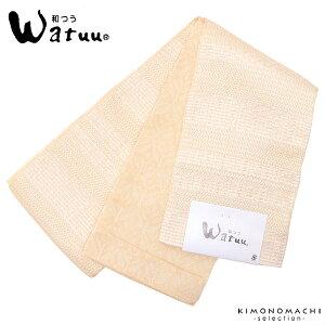小袋 半幅帯「白色 段模様」和