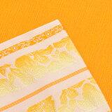小袋半幅帯「黄色ぼかし献上風」和つう小袋帯浴衣帯レディース<H>【メール便不可】