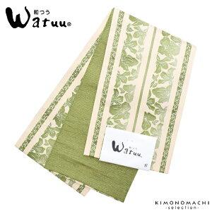 小袋 半幅帯「緑色 献上風」和
