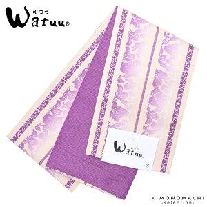 小袋半幅帯「青紫色 献上風」和