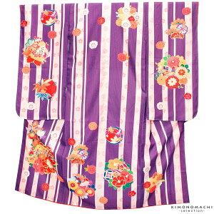 七五三 四つ身着物単品「紫色