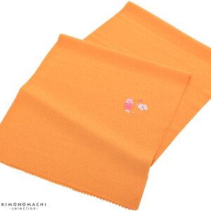 七五三帯揚げ「オレンジ色 花の丸」